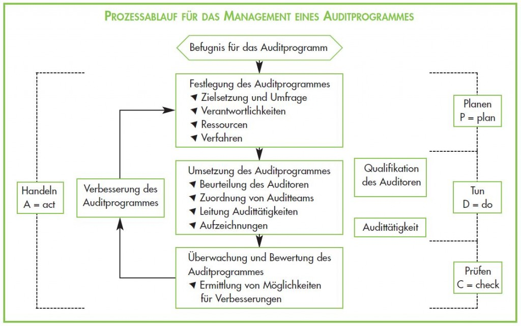 Prozessablauf Auditprogramm - ISO 9001 Audit